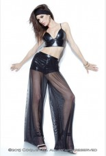 Coquette Darque Mesh Trousers with Wet Look Shorts